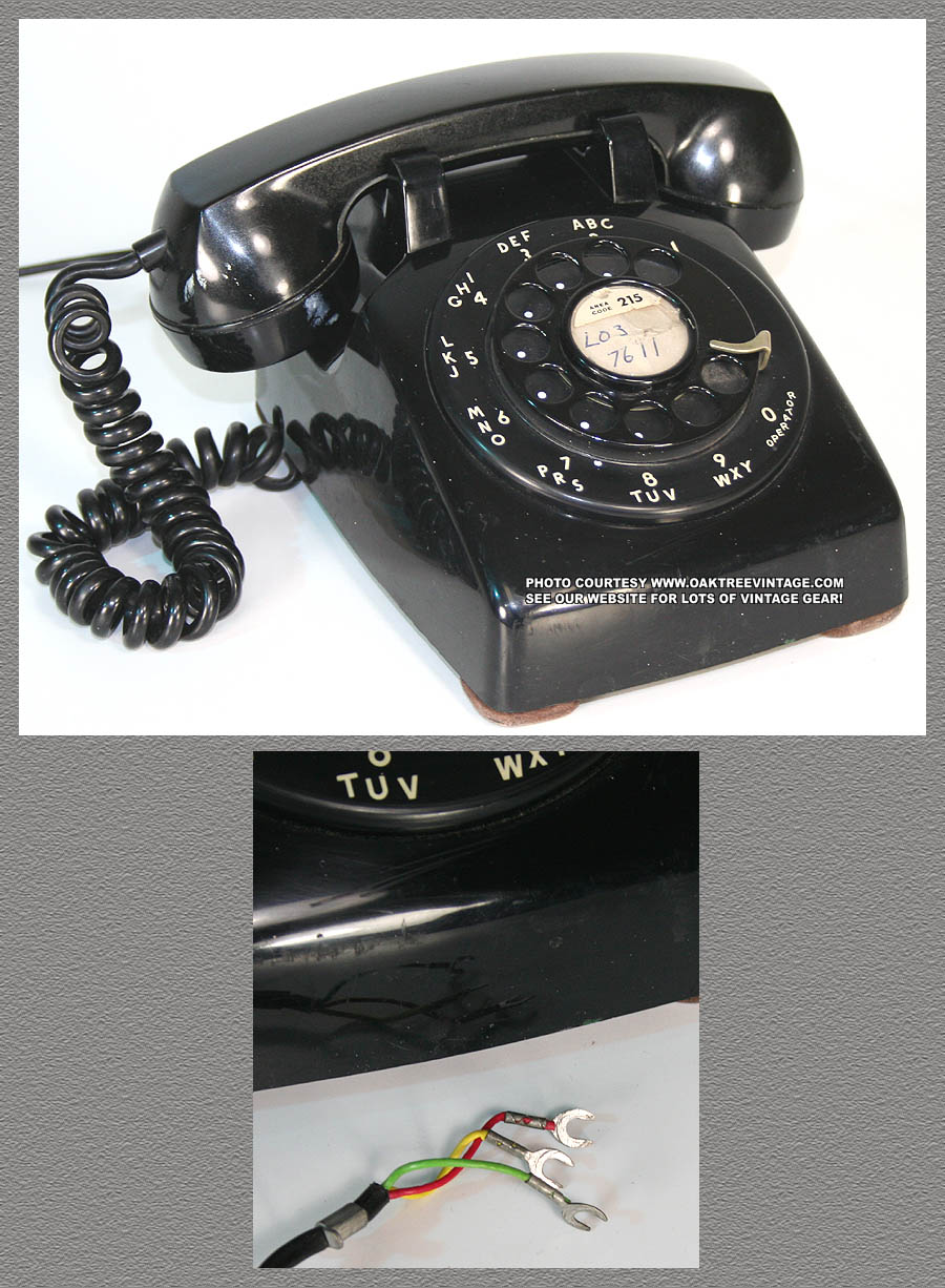 On Above Thumbnails To Enlarge Photos Vintage Original Western Electric Rotary Dial Desk Phone Black Model 500 Bakelite Telephone Circa 1961