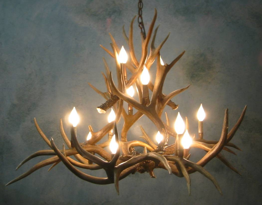 Antler Chandeliers For Sale REAL MCCOY – Real Deer Antler Chandelier