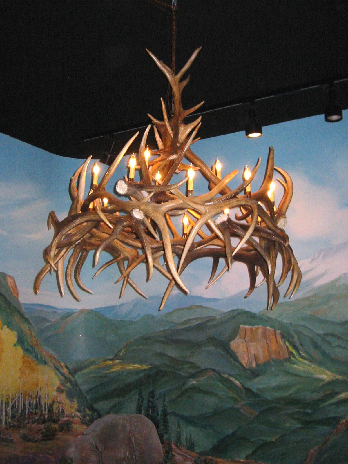 Antler Chandeliers For Sale. REAL MCCOY!