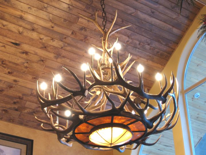 Antler chandeliers for sale real mccoy our antler chandeliers are made of real mule deer moose and elk antlers not the cheaply made cast resin versions you commonly see made overseas aloadofball Images