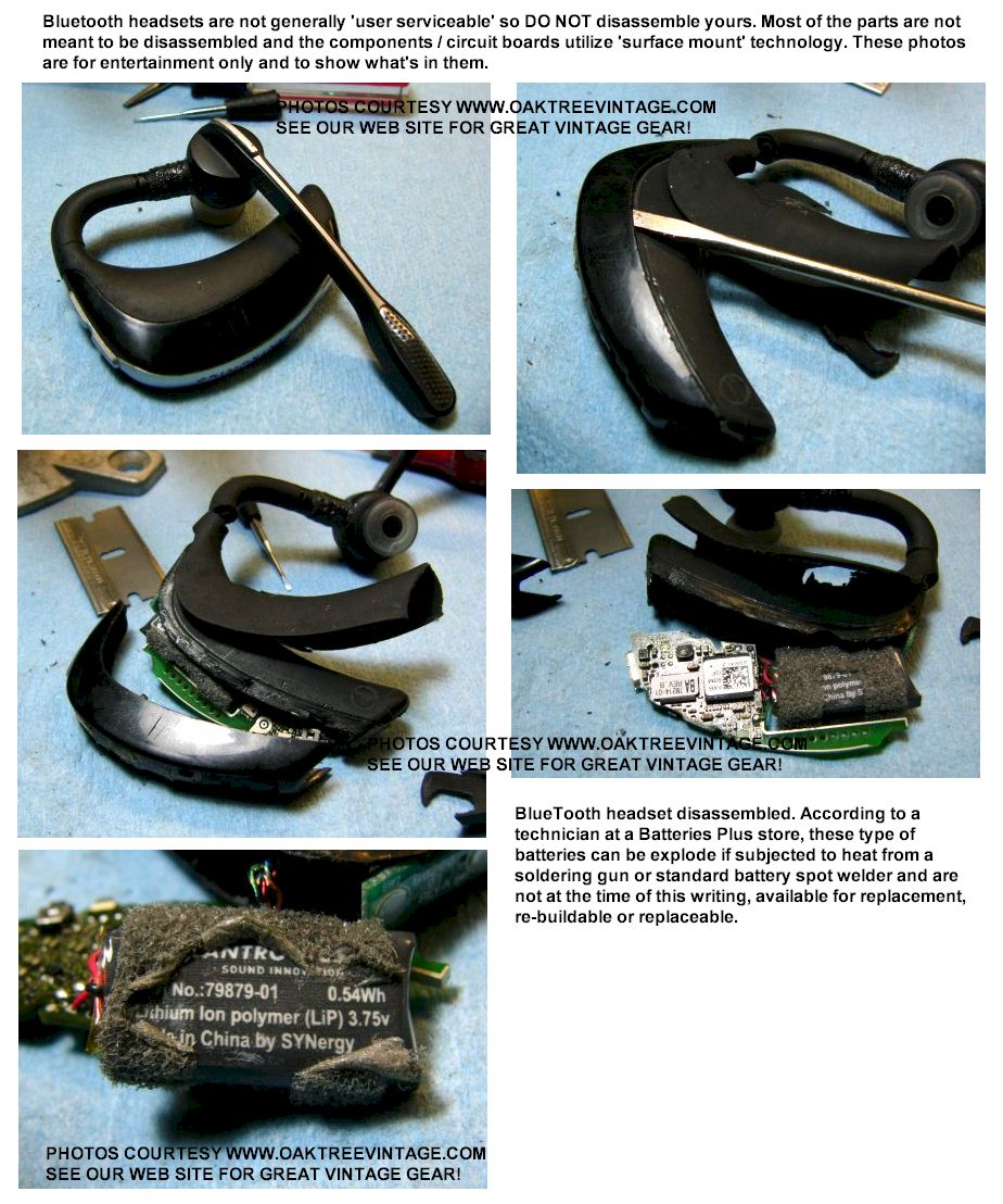 Bluetooth Headset Repairs Battery Replacement Attempt