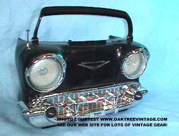 Randix 57 chevy radio black front parts unit web jpg 32095 bytes