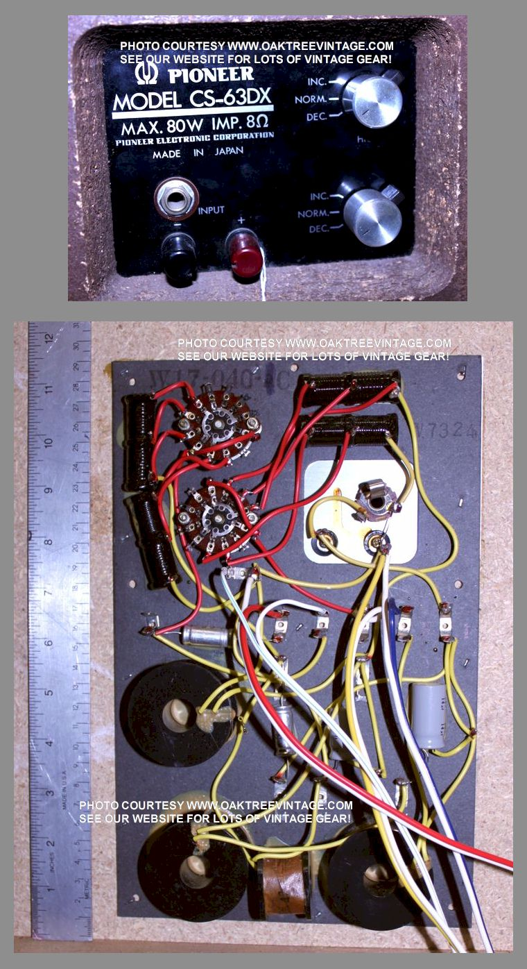 Pioneer Replacement Speaker Parts Drivers Spares For Vintage Wiring Diagram Besides 16 Pin Likewise Cs 63dx Cross Over W17 040 Collage