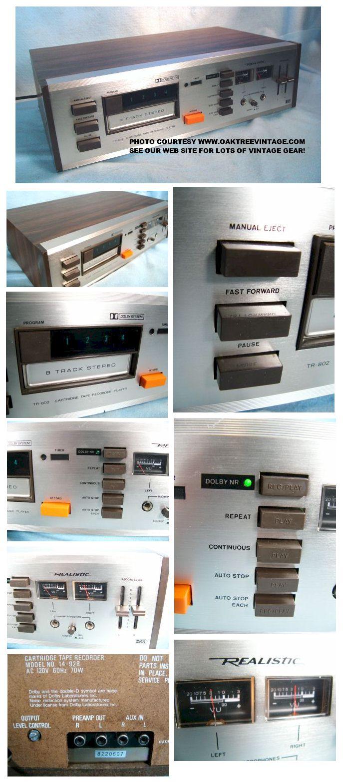 used \u0026 vintage stereo 8 track cartridge tape decks\u2026 ready to go Wiring Diagram Pioneer realistic_tr 802_8 track_cartridge_tape_deck_collage jpg (176781 bytes)