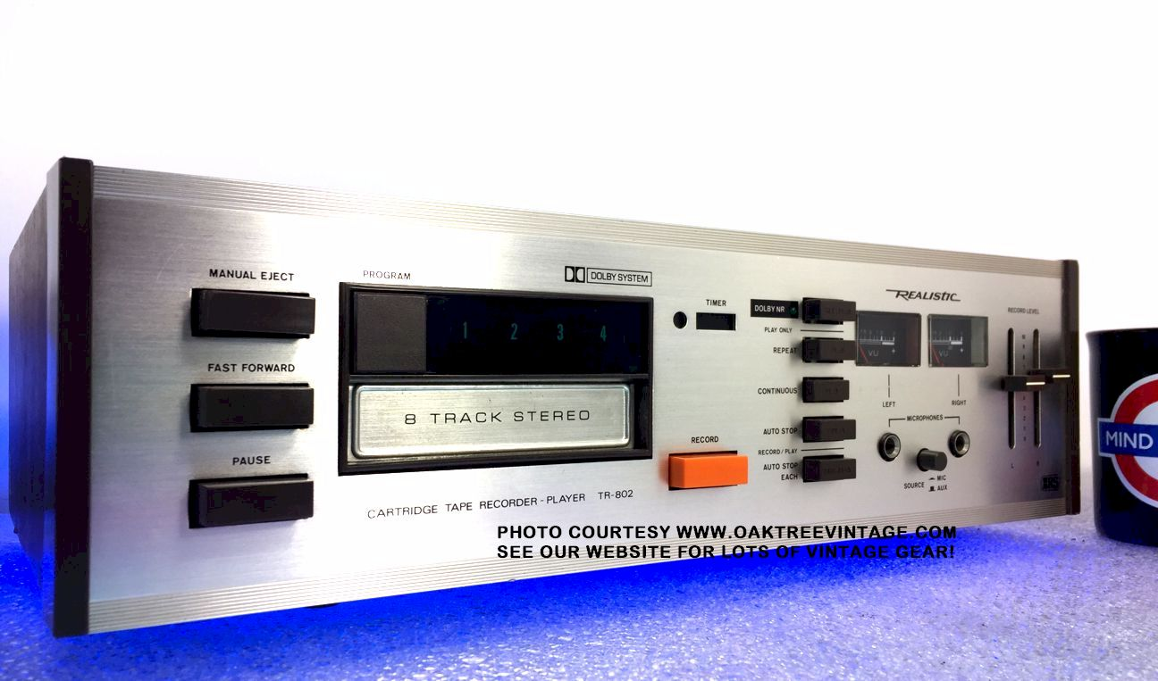 Used & Vintage Stereo 8-Track Cartridge Tape Decks… Ready to ... Realistic Tape Deck Wiring Diagram on