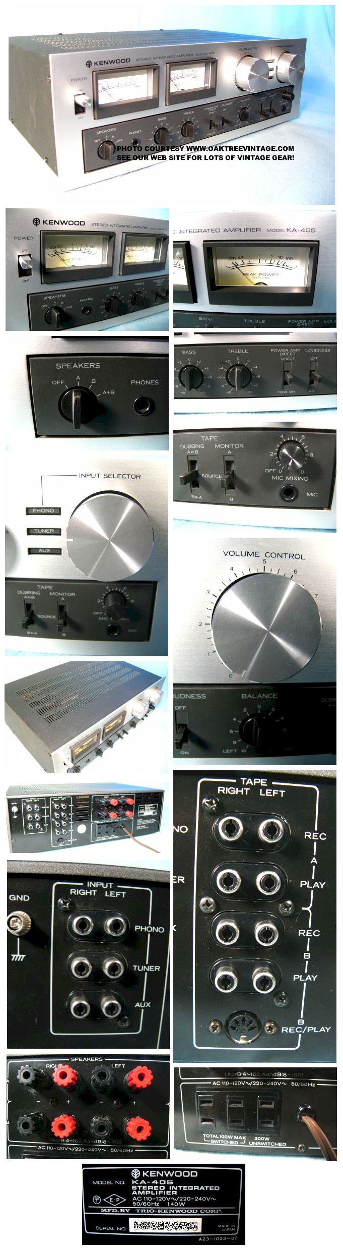 Vintage / Used Kenwood Amps / Pre-Amps – Photo Gallery