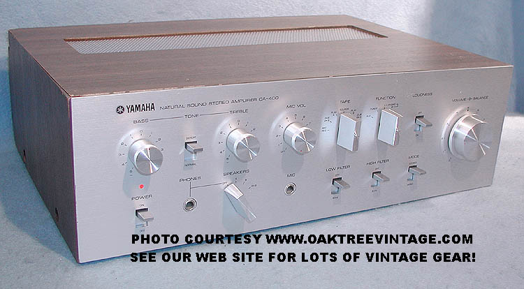 YAMAHA CA-400 CA400 SOLD 1/3/05. STEREO INTEGRATED AMPLIFIER