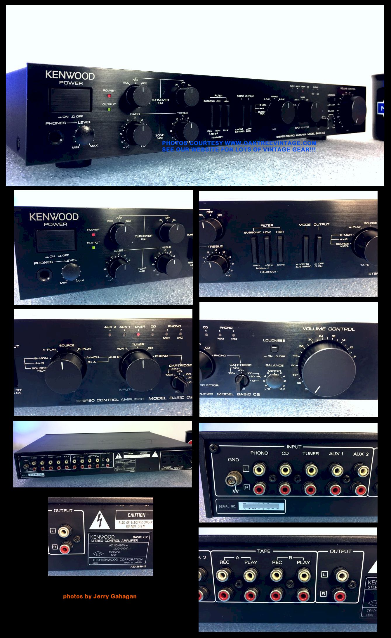 Vintage Stereo Amplifiers Pre Amps Restored Refurbished Fully 200 Watts Super Bridge Power New Listing 11 14 18 Click On Above Thumbnails To Enlarge Photos