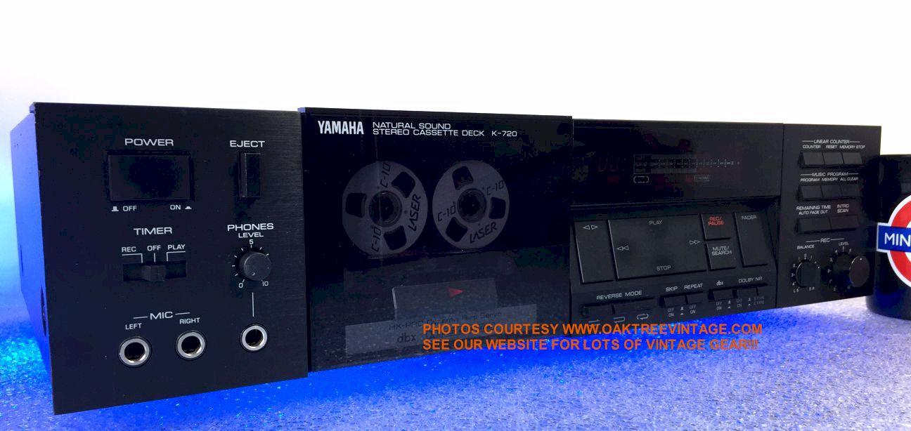 Vintage used stereo cassette tape decks restored for Yamaha refurbished warranty