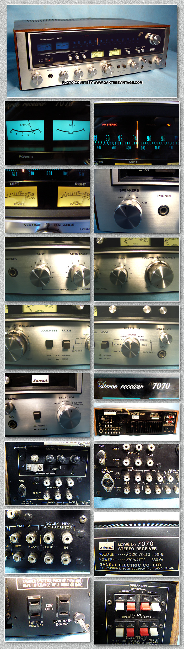 Vintage Sansui Stereo Parts Spares Circuit Board Buy Receiver Boardfm 7070 1 Parting Out Unit Looks Near New Very Clean Many Of The Such As Switches Pots