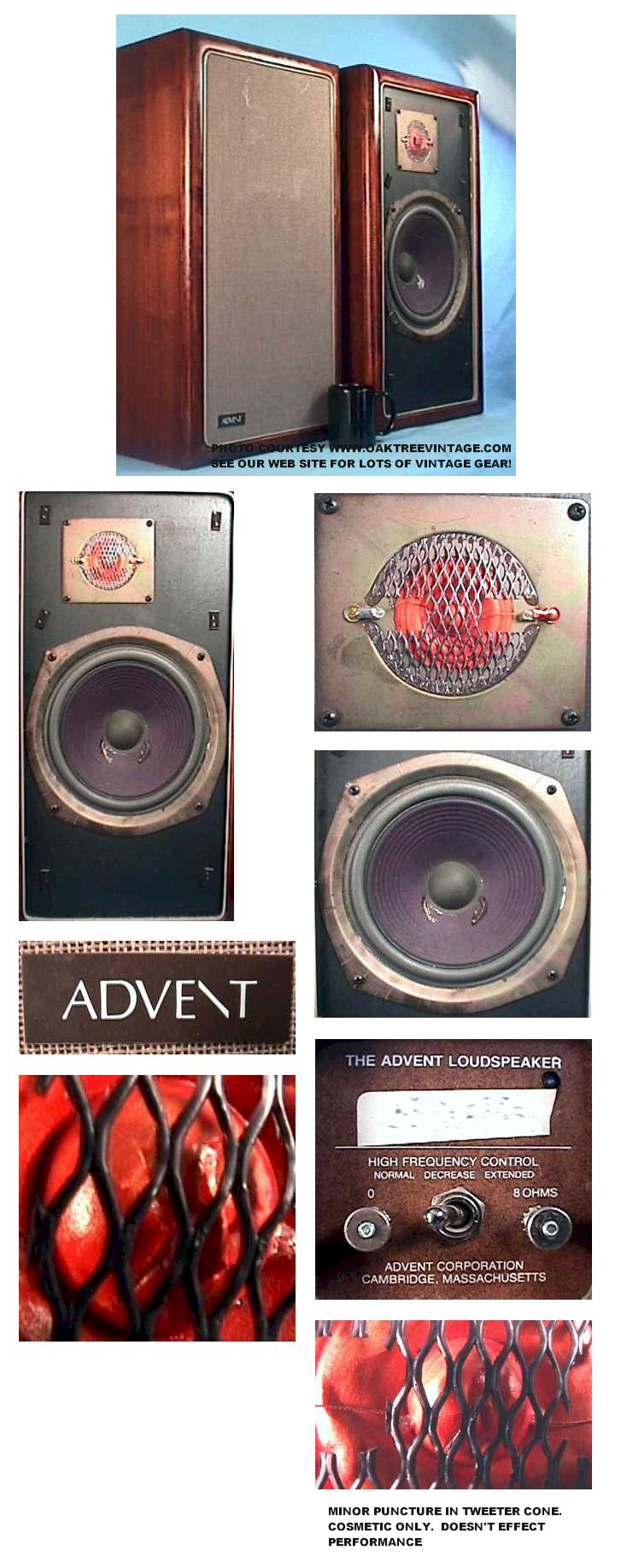 The Advent Loudspeaker Original Tweeter FREE SHIPPING Have 4 available