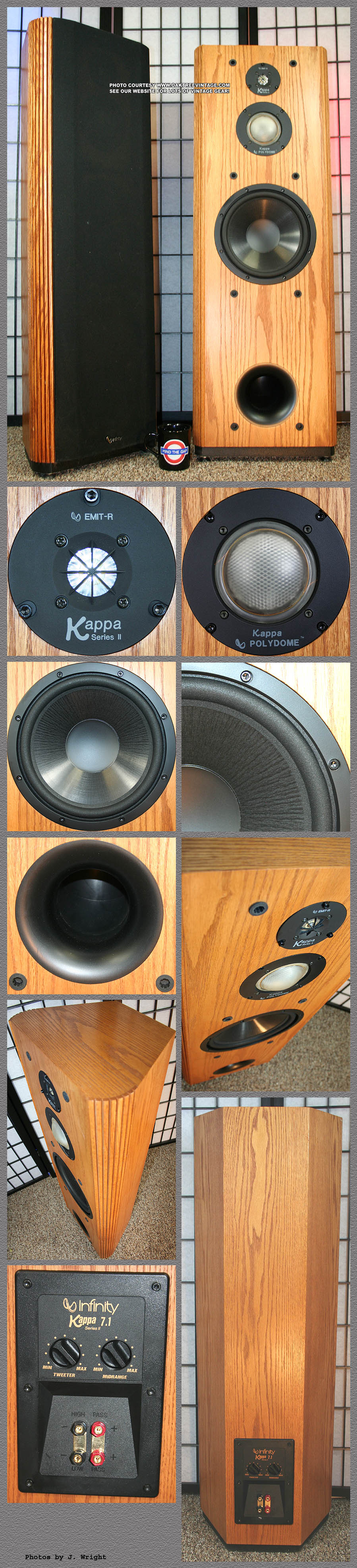 infinity kappa 7 1 series ii speakers