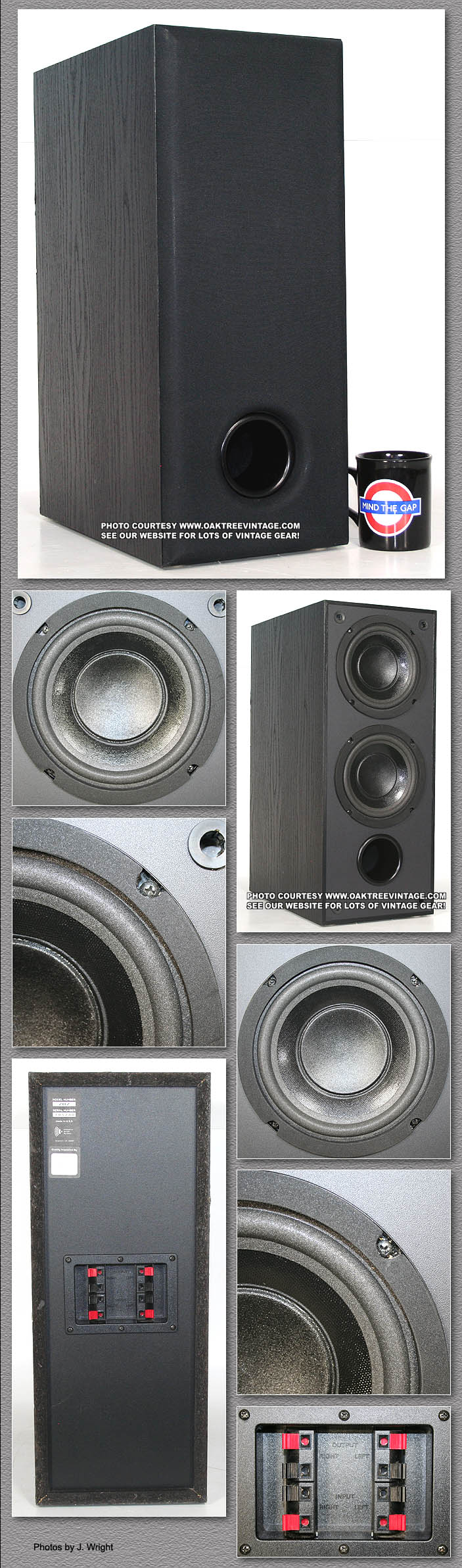 Used / Vintage stereo replacement speaker parts