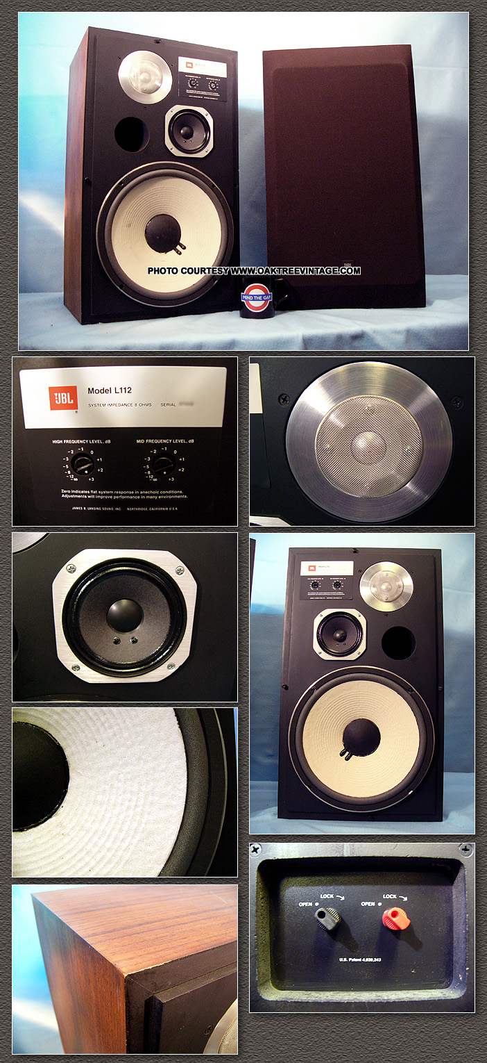 sold stereo speakers jbl oak tree vintage has used home
