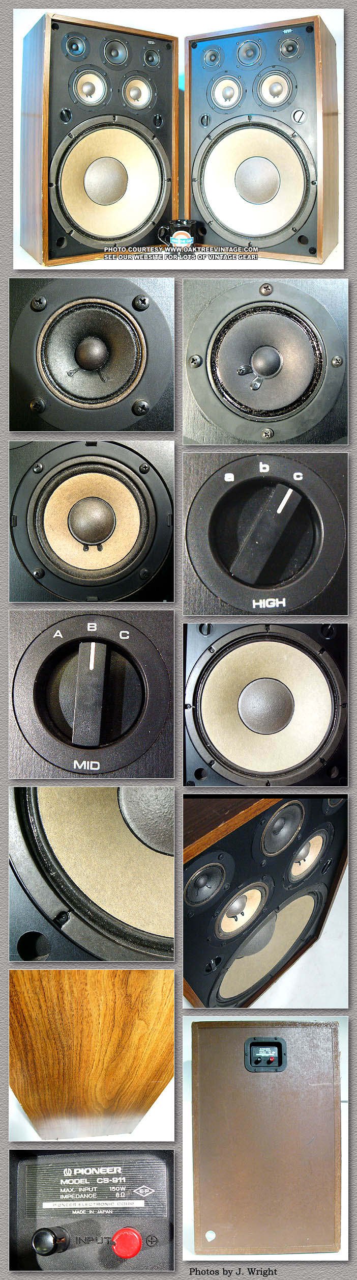 archive vintage classic pioneer speakers photo gallery