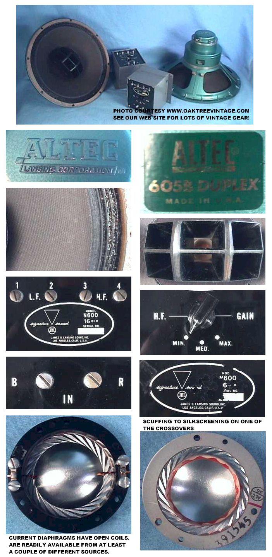 Vintage Used Altec Speaker / Drivers / Components