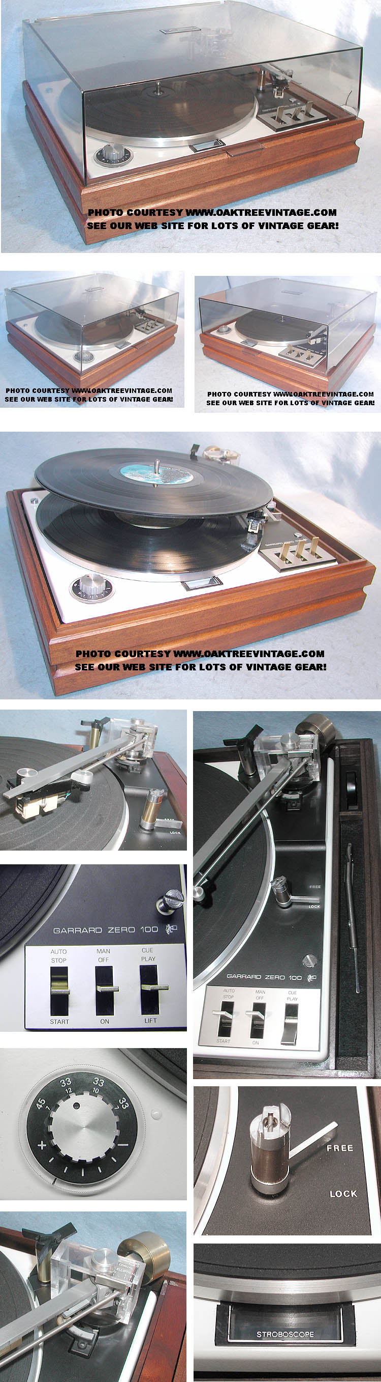 Vintage / Used Garrard Stereo Turntables / Phonographs