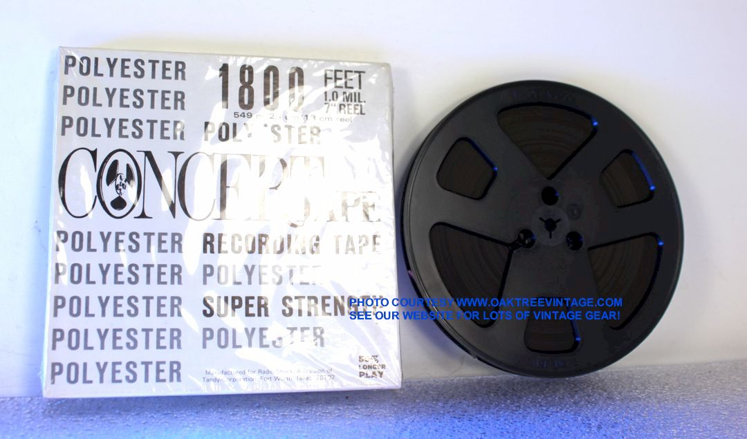 """Blank R to R 1//4/"""" audio tape 7 inch real."""