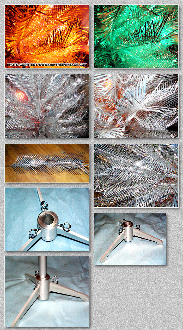Aluminum Christmas Tree Collage