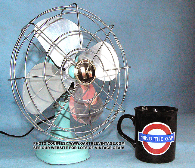 Vintage deco fans by Emerson Wizard Vornado Zero, Deco Breeze, Century R&M  Western Auto Westinghouse Phil Rich GE General Electric vintage fans  Dominion, ... - Antique-Vintage Electric Fans: Restored, Refurbished And