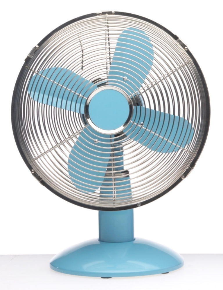 Best Table Top Fan : Metal desk fans table top trendy colored
