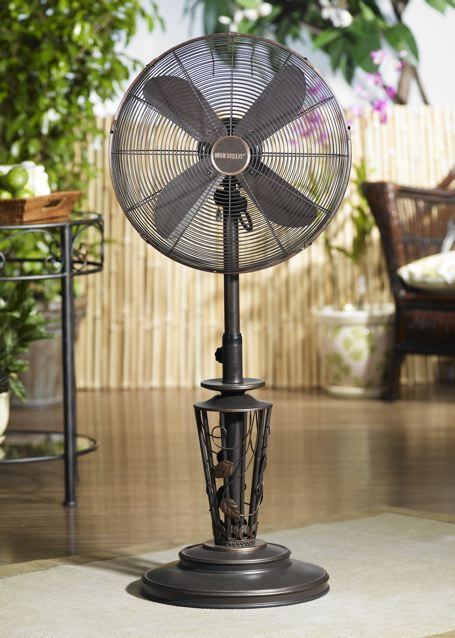 Vines Outdoor Patio, Floor Standing Fan Catalog # DBF0623 - DBF0623 Vines Outdoor  Patio Fan - Outdoor Patio Fans Our Designs