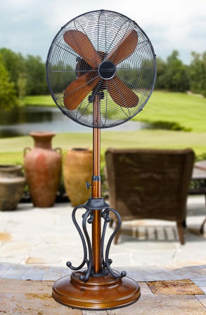Dbf1078 Byzantium Outdoor Patio Fan Floor Standing Outdoor Fan By Deco Breeze