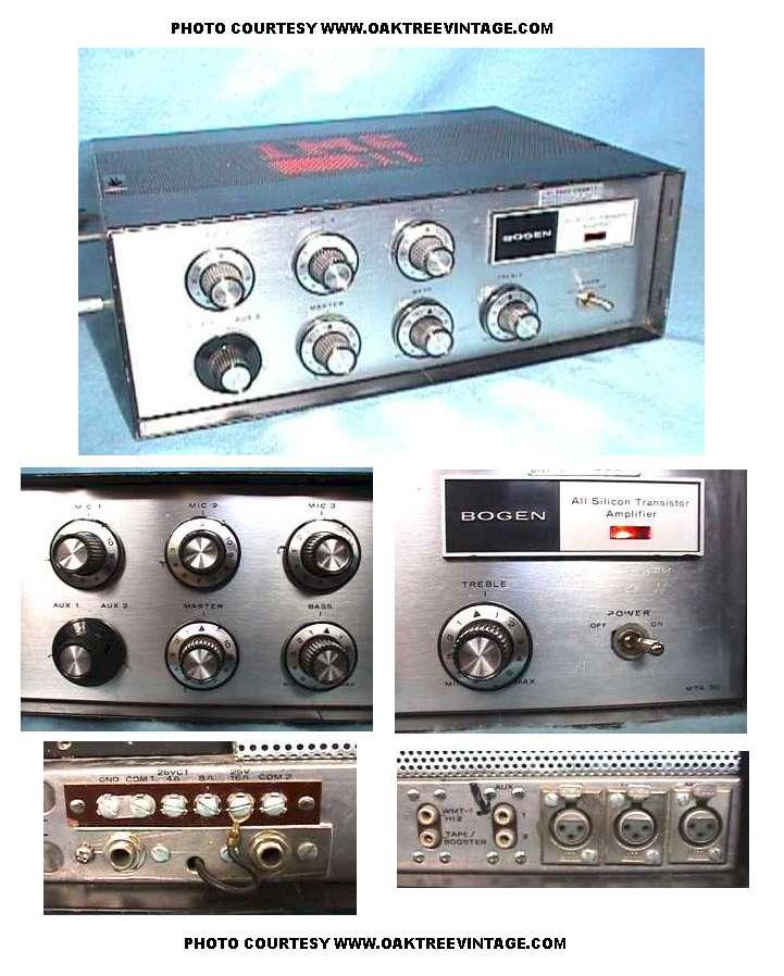 Bogen Mixers and Amplifiers