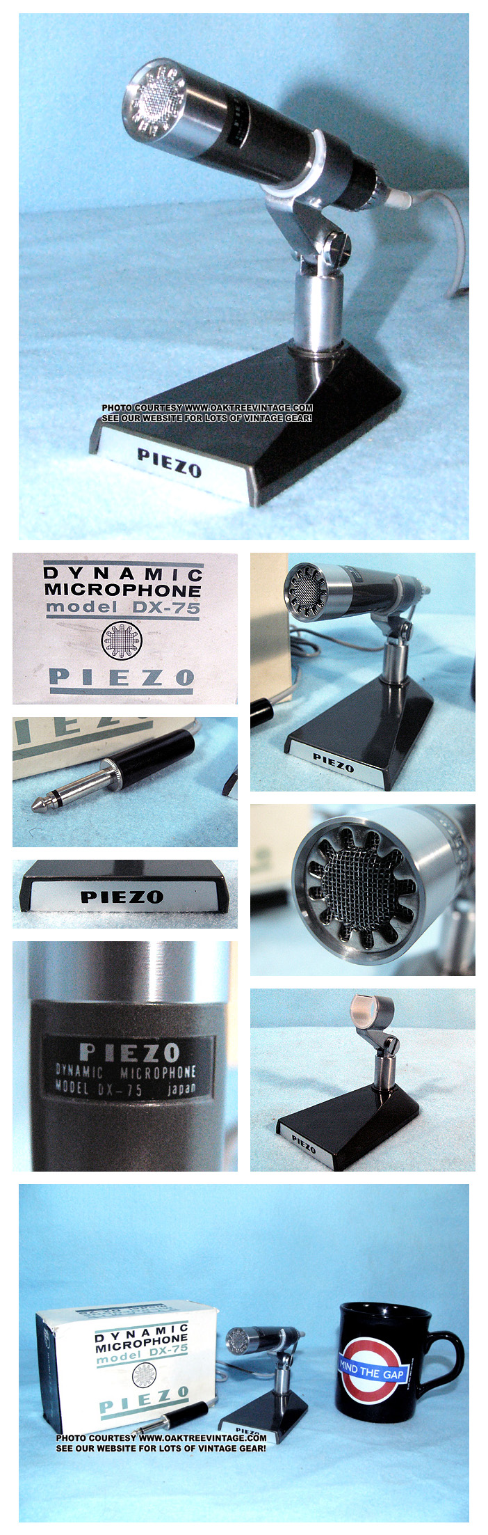 Vintage & Used Microphones for sale - 1950\'s, 1960\'s, 1970\'s & 1980\'s.