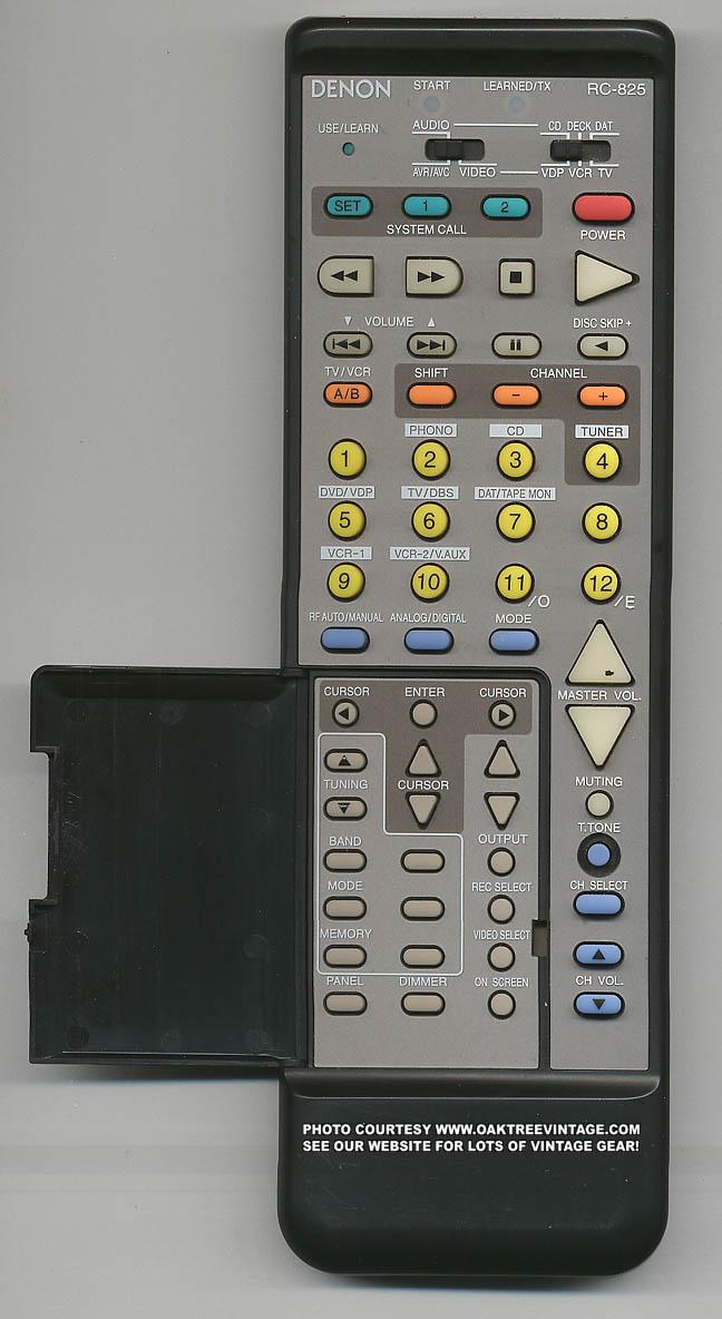 Denon Rc 825 Multi Function Audio System Remote Control