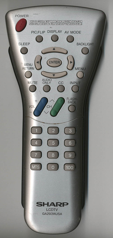 Sharp GA293WJSA LCD TV Remote Control