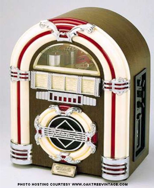 Reproduction Jukeboxes by Crosley Jukeboxes featuring CD