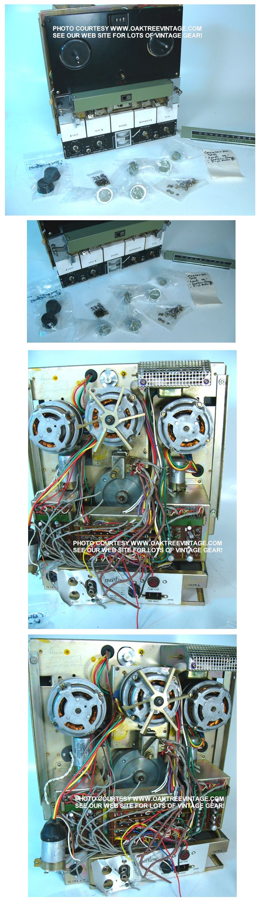 Stereo Home Audio Parts Spares Replacement Electronic Speaker Assembly Diagram And List For Lxi Audioequipmentparts Click On Above Thumbnails To Enlarge Photos Concertone Reverse O Matic Reel Tape Recorder Deck 802a Sale Parting Out