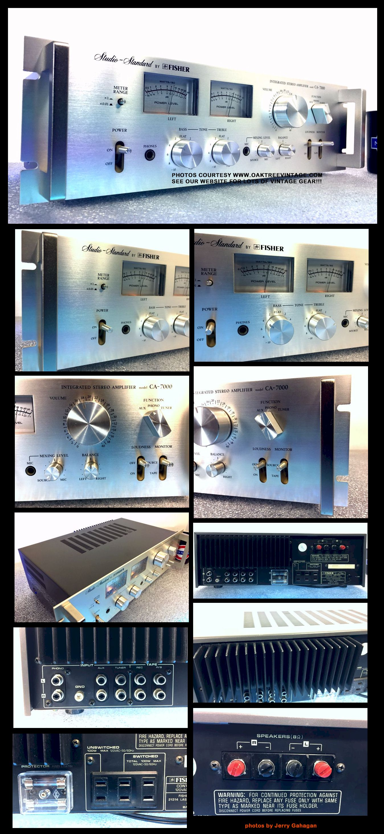 Vintage Stereo Amplifiers Pre Amps Restored Refurbished Fully 2 Ohm Subwoofer Wiring Diagram Above Left Photo Of Amp With Matching Tuner Sold Separately