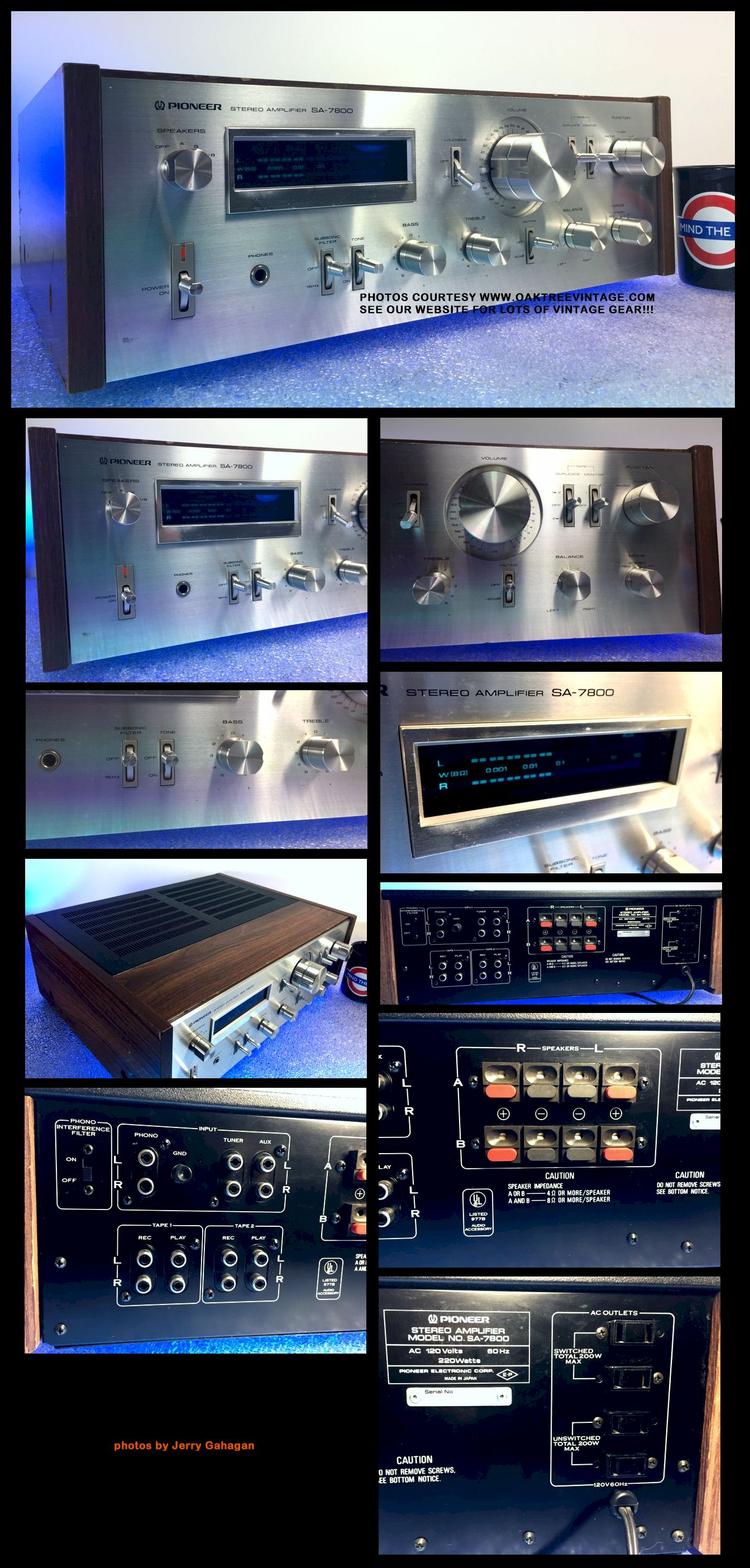 Vintage Stereo Amplifiers Pre Amps Restored Refurbished Fully 200 Watts Super Bridge Power New Listing 3 21 18