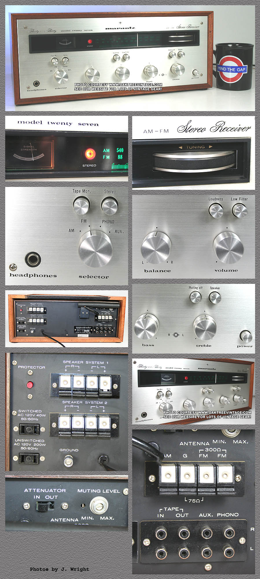 Vintage Marantz Stereo Receivers Photo Gallery