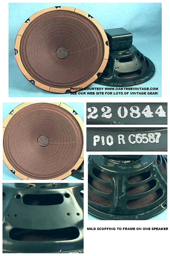 Vintage Original Used Jensen Speakers Drivers Woofers